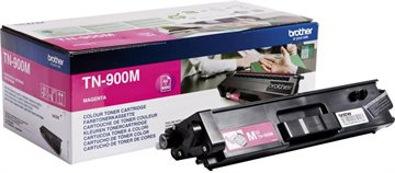 Brother TN900M Magenta Lasertoner, 2 x 6000 sider