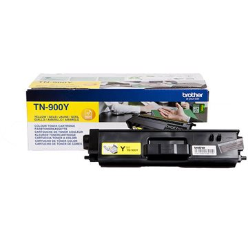 Brother TN900Y Gul Lasertoner, 6000 sider
