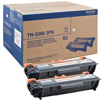 Brother TN-3390 Sort Lasertoner, 2 x 12.000 sider