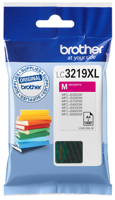 Brother LC3219XLM Magenta Blækpatron, 1.500 sider