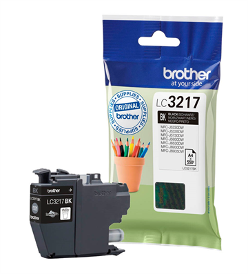 Brother LC3217BK Sort Blækpatron, 550 sider