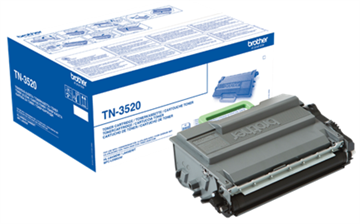 Brother TN-3520 Sort Lasertoner, 20.000 sider