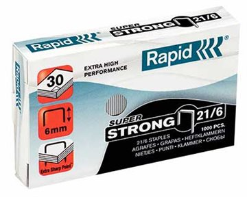 Hæfteklamme Rapid 21/6 Super Strong