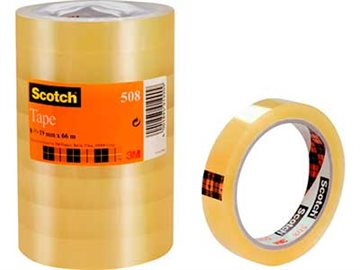 Tape Scotch 15Mm X 66M Transperant, Tårn Med 10 Rl