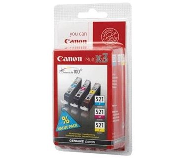 Canon CLI-521 2934B007AA Multipack C/M/Y Tintenpatrone, 505 sider