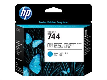 HP 744 F9J86A Foto Sort / Cyan Printhoved