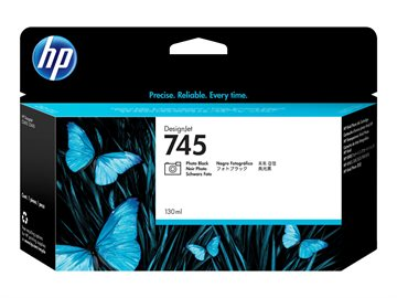 HP 745 F9J98A Foto Sort Blækpatron, 130 ml