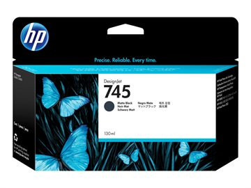 HP 745 F9J99A Mat Sort Blækpatron, 130 ml