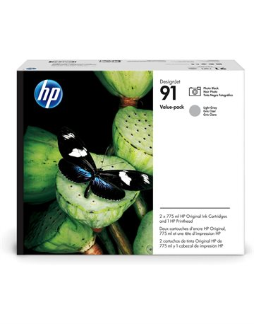 HP 91 P2V38A Foto Sort / Lys Grå Printhoved