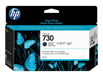 HP 730 P2V65A Mat Sort Blækpatron, 130 ml