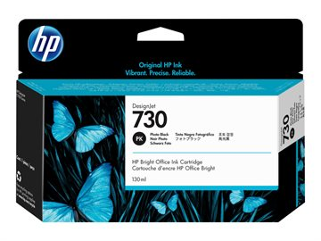 HP 730 P2V67A Foto Sort Blækpatron, 130 ml