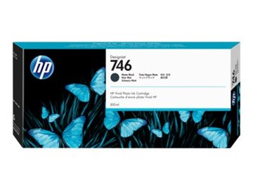 HP 746 P2V83A Mat Sort Blækpatron, 300 ml