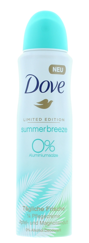 Dove 150ml Anti Perspirant Deodorant Spray Summer Breeze Limited Edition