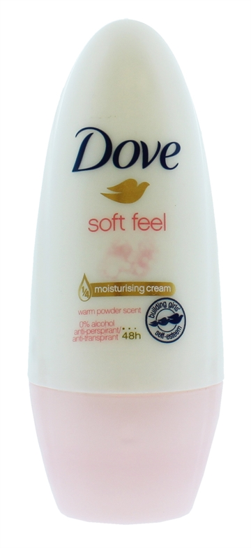 Dove Deodorant Roll-On Anti-Perspirant Soft Feel  50ml