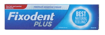 Fixodent Plus 40G Denture Adhesive Natural - 0% Flavour & Colouring