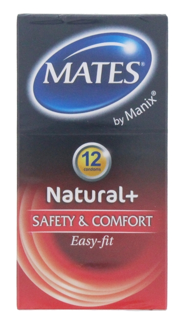Mates 12'S Condoms Natural