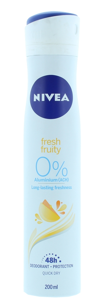 Nivea 200ml Deodorant Spray Fruity Fresh 48 Hour Protection