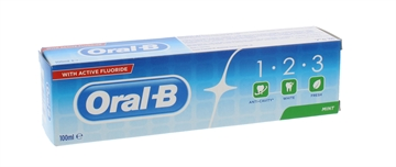 Oral B 100ml Toothpaste 123 Fresh Mint