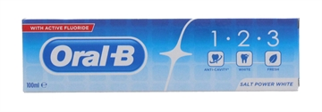 Oral B 100ml 123 Toothpaste Salt Power White