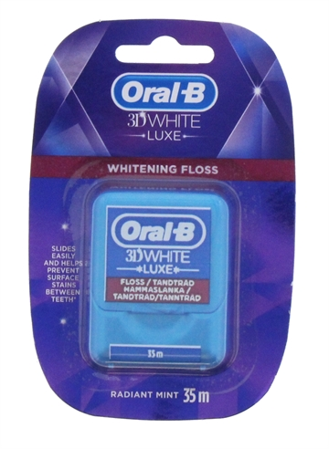 Oral B 3D 35M Floss White Luxe Whitening Radiant Mint