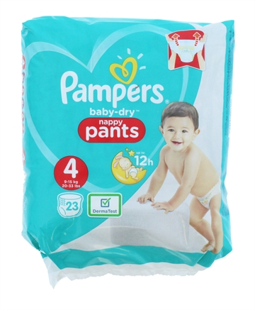 Pampers Baby Dry Nappy Pants Size 4 23'S