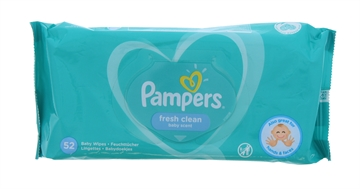 Pampers Baby Wipes Fresh Clean 52'S