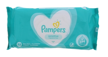 Pampers Baby Wipes Sensitive Fragrance Free 52'S