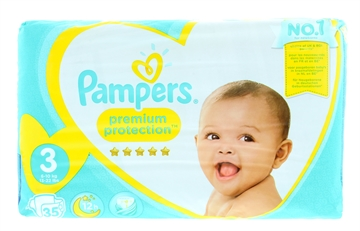 Pampers Premium Protection Nappies Size 3 35'S