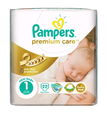 Pampers Prem Protect New Baby 22'S