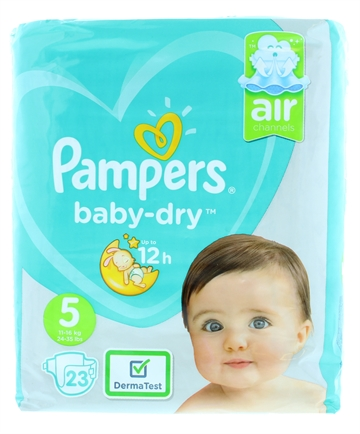 Pampers Baby Dry Nappy Pants Size 5 23'S