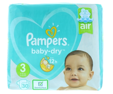 Pampers Baby Dry Nappies Size 3 30'S