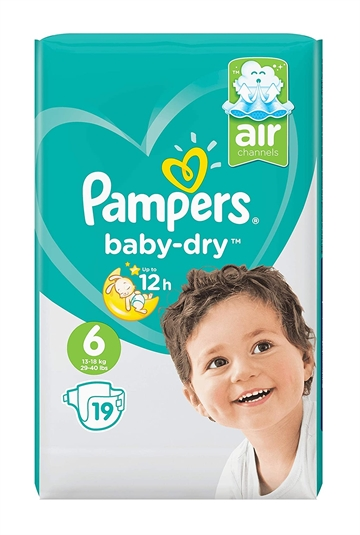 Pampers Baby Dry Nappies Size 6 19'S