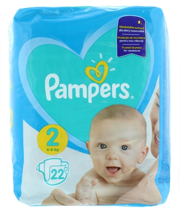 Pampers New Baby Nappies Size 2 22'S