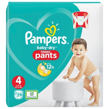 Pampers Baby Dry Nappy Pants Size 4 29'S