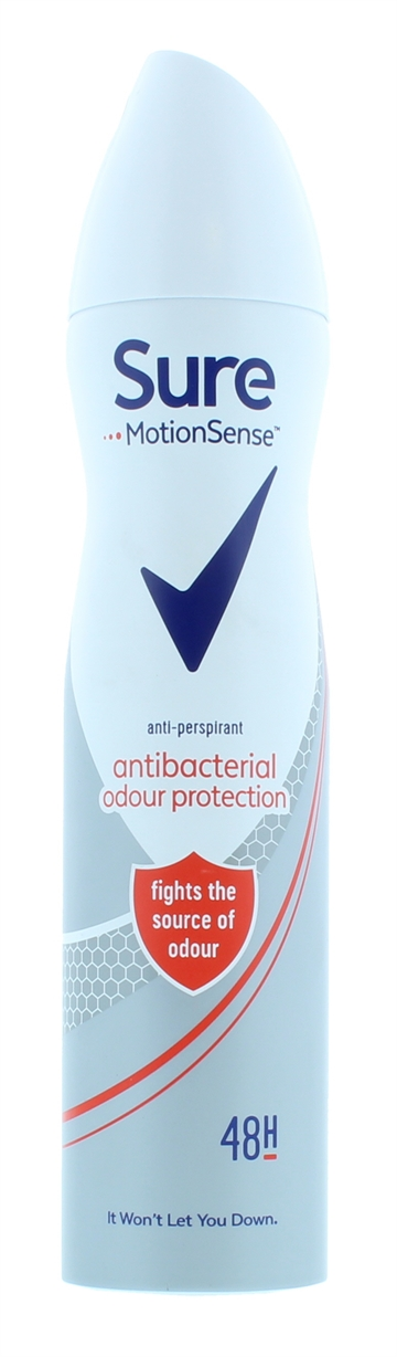 Sure 250ml Anti Perspirant Spray For Women Anti-Bacterial Protection