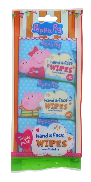 Peppa Pig Wipes 10'S 3Pk Hand&Face