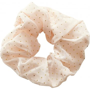 Everneed Scrunchie - pudder guld dots