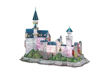 Revell Schloss Neuschwanstein, Multicolor LED 3D Puzzle