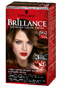 Schwarzkopf Brillance 862 Natural Brown hårfarve Brun
