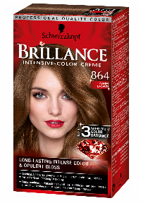 Schwarzkopf Brillance 864 Warm Brown hårfarve Brun