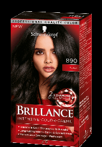 Schwarzkopf Brillance 890 hårfarve Sort