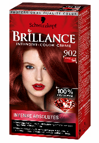 Schwarzkopf Brillance 902 Absolute Red hårfarve Rød